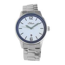 s.Oliver Armbanduhr in elegantem Design SO-15162-MQR Armbanduhren silber Herren