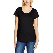 Trigema Damen T-Shirt 536202, Gr. 44 (Herstellergröße: L), Schwarz (Schwarz 008)