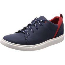 Clarks Damen Step Verve Lo. Sneaker, Blau (Navy), 39 EU