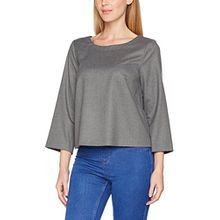 comma Damen Bluse 81709194577, Grau (Dark Grey 9740), 40