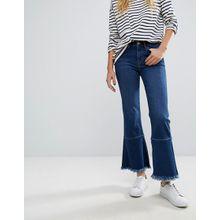 M.i.h Jeans - Lou - Capri-Jeans mit auffälligem Fransensaum - Schwarz