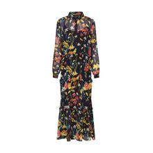 ONLY Kleid 'onlNORA LS MIDCALF' dunkelblau / senf / smaragd / pastellrot / schwarz / weiß
