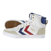Hummel STADIL HIGH, Unisex-Erwachsene Hohe Sneakers, Weiß (White/Blue/Red/Gum), 41 EU (7.5 Erwachsene UK)