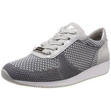 ara Damen Lissabon Sneaker, Grau (Grau-Hellgrau, Silber 10), 39 EU