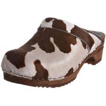 Sanita Caroline open, Damen Clogs, Mehrfarbig (Brown cow 3), 35 EU