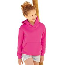 Fruit of the Loom - Classic Kinder Kapuzen-Sweatshirt 'Kids Hooded Sweat' 116,Fuchsia