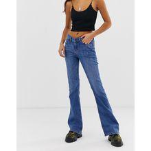 Noisy May - Bootcut-Jeans in Blau - Blau