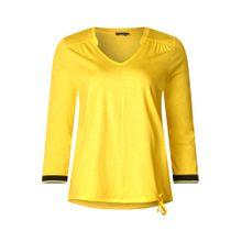 STREET ONE Shirt gelb / schwarz