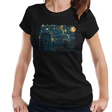 Starry Gallifrey Doctor Who Tardis Van Gogh Women's T-Shirt
