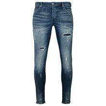 tigha Herren Jeans Billy the kid 9869 repaired blau (dark blue)