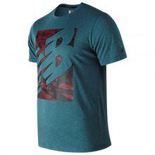 New Balance - Heathertech T - Funktionsshirt Gr XL grau