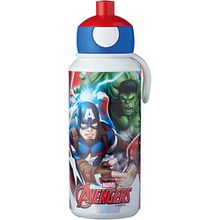 Trinkflasche pop-up campus Avengers, 400 ml blau/rot