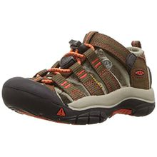 Keen Unisex-Kinder Newport H2 Sandalen Trekking-& Wanderschuhe, Braun (Dark Earth/Spicy Orange Dark Earth/Spicy Orange), 34 EU
