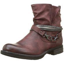 TOM TAILOR Damen 1695602 Biker Boots, Rot (Bordo), 40 EU