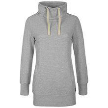 Desires Jannika Damen Langes Sweatshirt Pullover Longpullover Mit Stehkragen Und Fleece-Innenseite, Größe:M, Farbe:Stone Mix (70813)