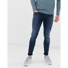 Only & Sons - LOOM - Schmale Jeans in verwaschenem Dunkelblau - Navy