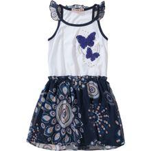 Desigual Jerseykleid mit Wendepailletten, Schmetterling blau / hellblau / rosa / weiß