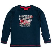 SALT AND PEPPER Jungen Langarmshirt Longsleeve Fire Dangerous, Blau (Crown Blue 463), 104