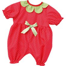 Puppenkleidung Baby-Anzug Erdbeere, Gr. 43