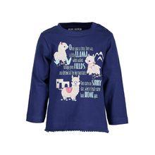 Blue Seven Baby Langarmshirt für Mädchen, Lama