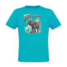 Ethno Designs Kinder T-Shirt Triceratops regular fit, Größe 110/116, atoll