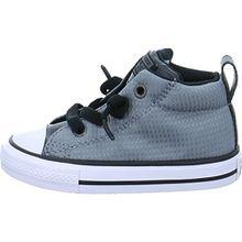Converse Unisex-Kinder Chuck Taylor CTAS Street Mid Canvas Fitnessschuhe, Grau (Cool Grey/Black/White 039), 24 EU