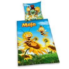Herding 448755050 Bettwäsche Biene Maja, Kopfkissenbezug: 80 x 80 cm + Bettbezug: 135 x 200 cm, 100% Baumwolle, Renforce
