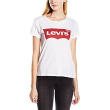 Levi's Damen T-Shirt, The Perfect Tee, Weiß (Batwing White Graphic 53),  Gr. Small
