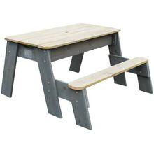 EXIT Aksent Sand-, Wasser- und Picknicktisch (1 Sitzfach) holzfarben