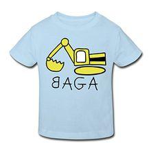 Spreadshirt Bagger BAGA Kinder Bio-T-Shirt, 98/104 (3-4 Jahre), Hellblau