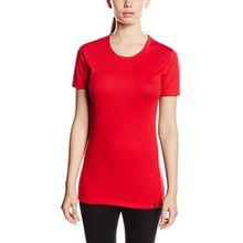 Trigema Damen T-Shirt 502201, Gr. 44 (Herstellergröße: L), Rot (Kirsch 036)