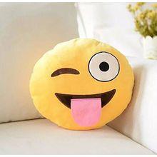 coollooda Soft Emoji Bettwäsche Kissen Auto Sofa Kissen gefüllt Plüsch Spielzeug Neuheit Home Decor - Stuck Out Tongue, A