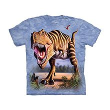 The Mountain Unisex Kinder Gr. M Gestreifter Rex T Shirt