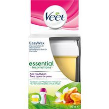 Veet Haarentfernung Warm- & Kaltwachs Essential Inspirations Easy Wax elektrische Roll-On Wachspatrone 50 ml