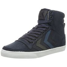 Hummel Unisex-Erwachsene Slimmer Stadil Duo Oiled High Top, Blau (Total Eclipse), 41 EU
