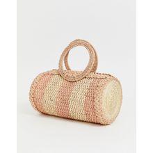 KAANAS - Sporttasche aus rosafarbenem Bast - Rosa