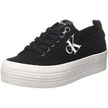 Calvin Klein Damen Zolah Canvas Sneaker, Schwarz (Black/Black R0673Blk), 40 EU