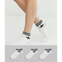 adidas Originals - Weiße Söckchen mit Kleeblattlogo im 3er-Pack - Weiß