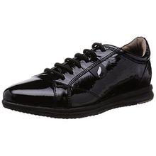 Geox D Avery B, Damen Sneakers, Schwarz (BLACKC9999), 41 EU (7.5 Damen UK)