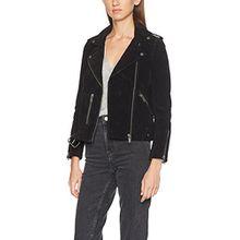 SELECTED FEMME Damen Jacke Sfsanella Leather Jacket, Schwarz (Black), 36