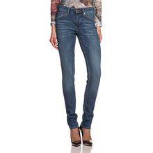 Cross Jeans Damen Slim Jeans Anya, Gr. W32/L30 (Herstellergröße: 32), Blau (Blue Used 052)
