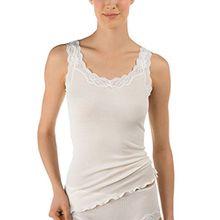 Calida Damen Unterhemd Richesse Lace, Gr. 50 (Herstellergröße: L=48/50), Beige (cream white 892)