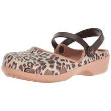 crocs Damen Karinclog Clogs, Mehrfarbig (Leopard), 36-37 EU
