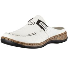 Rieker 46393 Women Clogs, Damen Clogs, Weiß (bianco/80), 42 EU