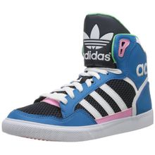 adidas Originals EXTABALL W D65392 Damen Sneaker, Blau (DARK SOLAR BLUE S14 / RUNNING WHITE FTW / ST TROPIC BLOOM S1), EU 38 2/3 (UK 5.5)