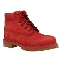 Timberland Unisex-Kinder 6 in Classic Boot Klassische Stiefel, Rot (Red Nubuk Monochromatic 626), 30.5 EU