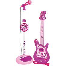 Gitarre und Standmikrofon Hello Kitty
