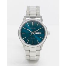Sekonda – Armbanduhr in Silber mit blauem Zifferblatt, exklusiv bei ASOS