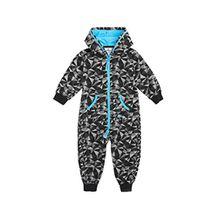 OnePiece Unisex Baby Strampler Jumpsuit Square, Schwarz, Gr. 74-80 (Herstellergrösse 6-12 Monate)