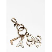 GUESS Schlüsselanhänger 'Kamryn Charm' rosegold / weiß